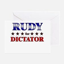 RUDY for dictator Greeting Card