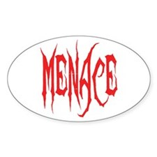 Menace Oval Decal