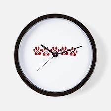 Poppy Paw Prints Wall Clock