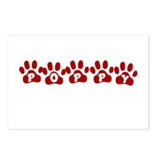 Poppy Paw Prints Postcards (Package of 8)