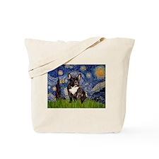 Starry / Fr Bulldog(brin) Tote Bag
