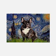 Starry / Fr Bulldog(brin) Rectangle Magnet
