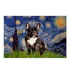 Starry / Fr Bulldog(brin) Postcards (Package of 8)