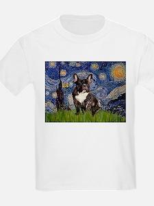 Starry / Fr Bulldog(brin) T-Shirt