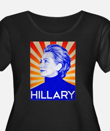 Hillary Clinton for President in Plus Size T-Shirt