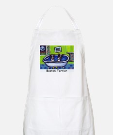 BOSTON TERRIER two in bath de BBQ Apron