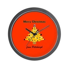 Pgh Xmas Wall Clock