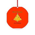 Pgh Xmas Ornament (Round)