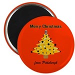 "Pgh Xmas 2.25"" Magnet (10 pack)"