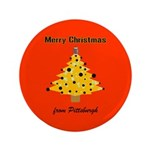 "Pgh Xmas 3.5"" Button (100 pack)"