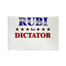 RUBI for dictator Rectangle Magnet