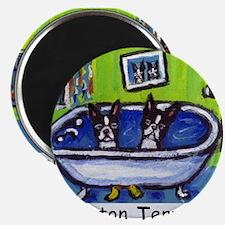 BOSTON TERRIER two in bath de Magnet