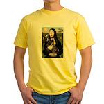 Mona / Fr Bulldog(brin) Yellow T-Shirt