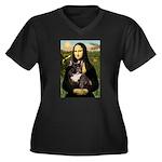 Mona / Fr Bulldog(brin) Women's Plus Size V-Neck D