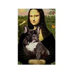 Mona / Fr Bulldog(brin) Rectangle Magnet (10 pack)