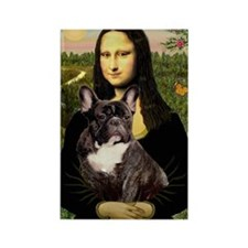 Mona / Fr Bulldog(brin) Rectangle Magnet