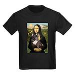 Mona / Fr Bulldog(brin) Kids Dark T-Shirt
