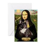 Mona / Fr Bulldog(brin) Greeting Cards (Pk of 20)