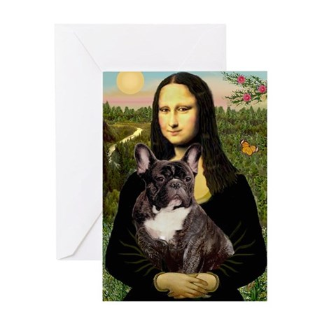 Mona / Fr Bulldog(brin) Greeting Card