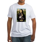 Mona / Fr Bulldog(brin) Fitted T-Shirt