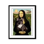 Mona / Fr Bulldog(brin) Framed Panel Print