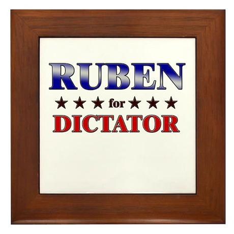 RUBEN for dictator Framed Tile
