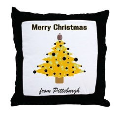 Pgh Xmas Throw Pillow