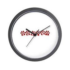 Shelby Paw Prints Wall Clock