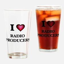 I love Radio Producers Drinking Glass