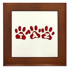 Taz Paw Prints Framed Tile
