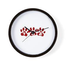 Taz Paw Prints Wall Clock