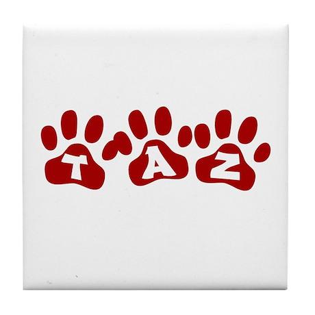 Taz Paw Prints Tile Coaster