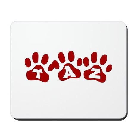 Taz Paw Prints Mousepad