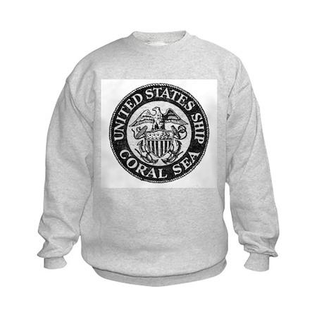 USS CORAL SEA Kids Sweatshirt