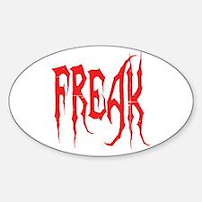 Freak Oval Decal