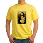 Mona / Fr Bulldog (f) Yellow T-Shirt