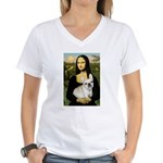 Mona / Fr Bulldog (f) Women's V-Neck T-Shirt