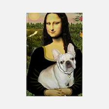 Mona / Fr Bulldog (f) Rectangle Magnet