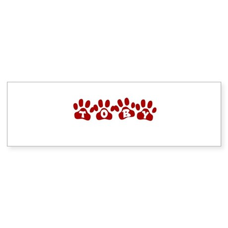 Toby Paw Prints Bumper Sticker