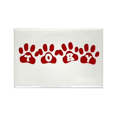 Toby Paw Prints Rectangle Magnet