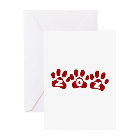 Zoe Paw Prints Greeting Card