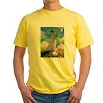 Umbrella /Fr Bulldog (f) Yellow T-Shirt