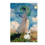 Umbrella /Fr Bulldog (f) Postcards (Package of 8)