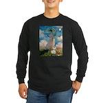Umbrella /Fr Bulldog (f) Long Sleeve Dark T-Shirt