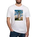 Umbrella /Fr Bulldog (f) Fitted T-Shirt