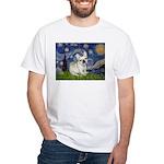 Starry / Fr Bulldog (f) White T-Shirt
