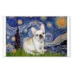 Starry / Fr Bulldog (f) Sticker (Rectangle)