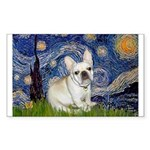 Starry / Fr Bulldog (f) Sticker (Rectangle)