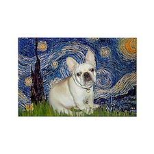 Starry / Fr Bulldog (f) Rectangle Magnet (10 pack)