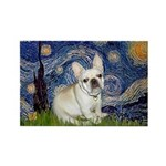 Starry / Fr Bulldog (f) Rectangle Magnet
